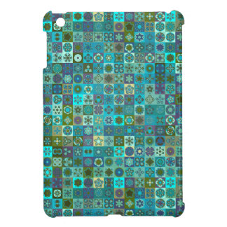 Floral mandala abstract pattern design iPad mini case