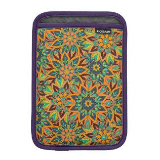 Floral mandala abstract pattern design iPad mini sleeve
