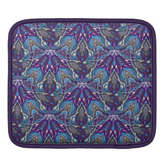 Floral mandala abstract pattern design iPad sleeve