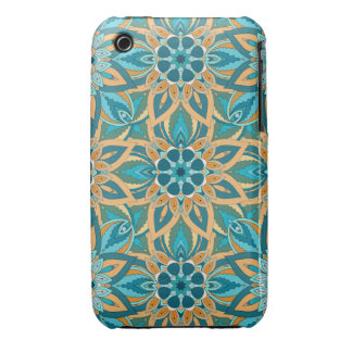 Floral mandala abstract pattern design iPhone 3 Case-Mate cases