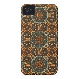 Floral mandala abstract pattern design iPhone 4 case