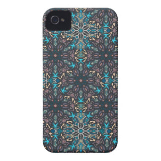 Floral mandala abstract pattern design iPhone 4 Case-Mate cases