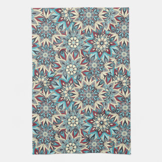 Floral mandala abstract pattern design kitchen towel