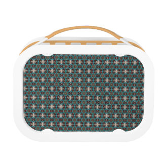 Floral mandala abstract pattern design lunch box