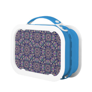Floral mandala abstract pattern design lunch boxes