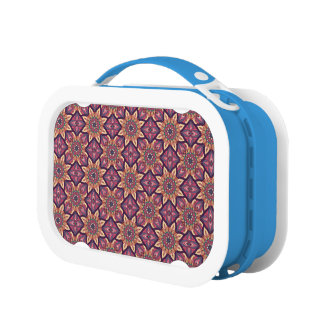 Floral mandala abstract pattern design lunchbox