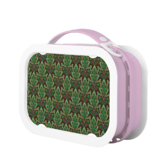Floral mandala abstract pattern design lunchboxes