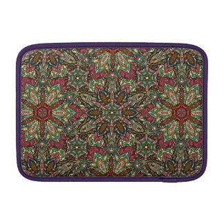Floral mandala abstract pattern design MacBook air sleeves