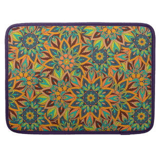 Floral mandala abstract pattern design MacBook pro sleeve