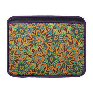 Floral mandala abstract pattern design MacBook sleeve