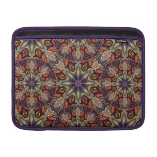 Floral mandala abstract pattern design MacBook sleeves