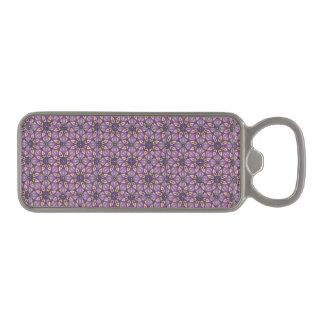 Floral mandala abstract pattern design magnetic bottle opener
