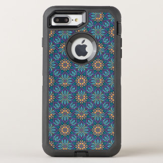 Floral mandala abstract pattern design OtterBox defender iPhone 8 plus/7 plus case