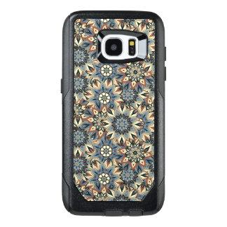 Floral mandala abstract pattern design OtterBox samsung galaxy s7 edge case