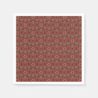 Floral mandala abstract pattern design paper napkin