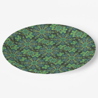 Floral mandala abstract pattern design paper plate
