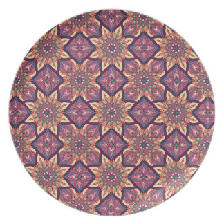 Floral mandala abstract pattern design party plate