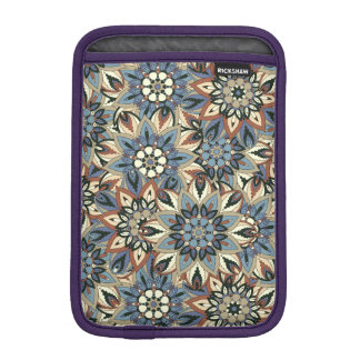 Floral mandala abstract pattern design sleeve for iPad mini