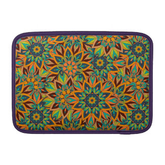 Floral mandala abstract pattern design sleeve for MacBook air