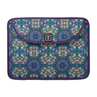 Floral mandala abstract pattern design sleeve for MacBooks