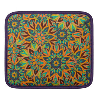 Floral mandala abstract pattern design sleeves for iPads