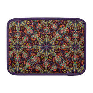 Floral mandala abstract pattern design sleeves for MacBook air