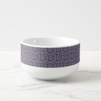 Floral mandala abstract pattern design soup mug