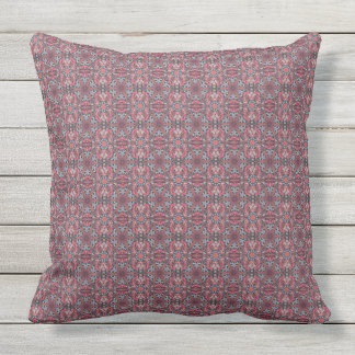 Floral mandala abstract pattern design throw pillow