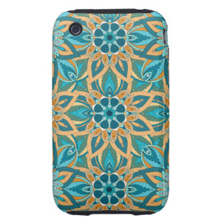 Floral mandala abstract pattern design tough iPhone 3 cover