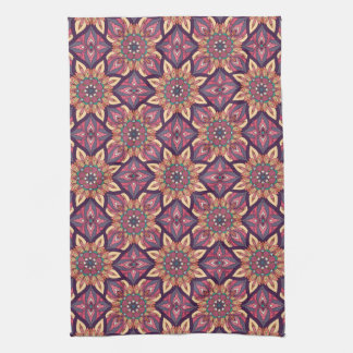 Floral mandala abstract pattern design towels