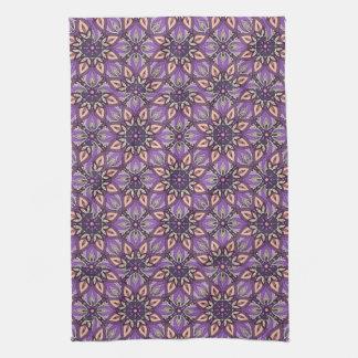 Floral mandala abstract pattern design towels