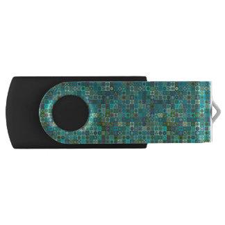 Floral mandala abstract pattern design USB flash drive