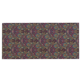 Floral mandala abstract pattern design wood USB flash drive