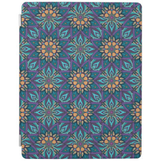 Floral mandala abstract pattern iPad cover