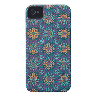 Floral mandala abstract pattern iPhone 4 Case-Mate cases