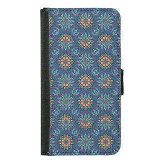 Floral mandala abstract pattern samsung galaxy s5 wallet case