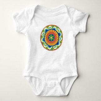 Floral Mandala Baby Bodysuit