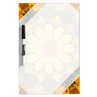 Floral mandala, Californian poppy Dry Erase Whiteboard