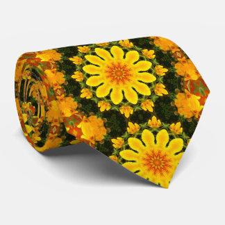 Floral mandala, Californian poppy Tie