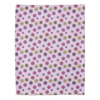 Floral Mandala Duvet Cover Pink and Purple