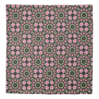 Floral mandala-style, pink blossoms 2.2 duvet cover