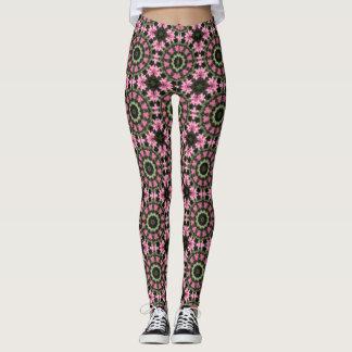 Floral mandala-style, pink blossoms 2.2 leggings