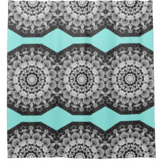 Floral mandala-style, Tulips Black, white and gray