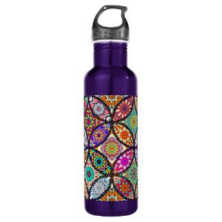 Floral mandalas creative circles art pattern 710 ml water bottle