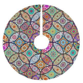 Floral mandalas creative circles art pattern brushed polyester tree skirt