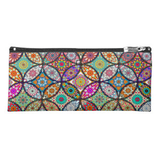 Floral mandalas creative circles art pattern pencil case