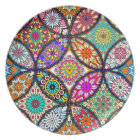 Floral mandalas creative circles art pattern plate