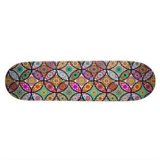 Floral mandalas creative circles art pattern skate deck
