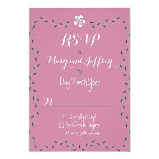 Floral Matching Wedding RSVP Cards