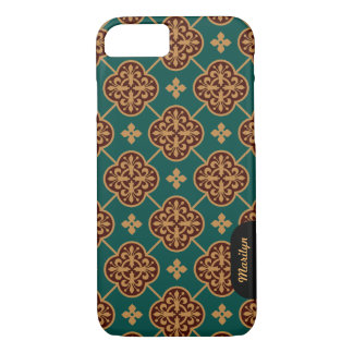 Floral medieval tile pattern CC0906 Augustus Pugin iPhone 7 Case